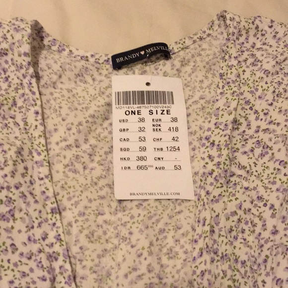Brandy Melville Dresses & Skirts - NWT Brandy Melville Floral Midi Wrap Dress